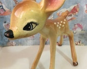 VERY RARE Vintage Antique Disney's Bambi Faline Figurine Collectible or Cake Topper American Pottery Company