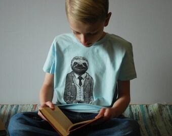 Sloth Childrens Shirt - Sloth Shirt- Kids Gift- Gift for Kids - Childrens Clothing - Animal Art