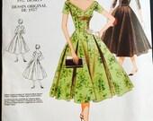 Vogue Vintage Model Pattern, Vogue V2903, 1950's Dress Pattern, T Length Misses' Dress Pattern, Size 6- 10, Etsy, Etsy Supplies