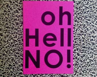 10 postcards Oh Hell no! protest postcard