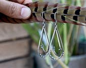 If You Let Me Paint The Rain - Sterling silver Kinetic Earrings