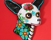 Day of the Dead Chihuahua Wall Hanging