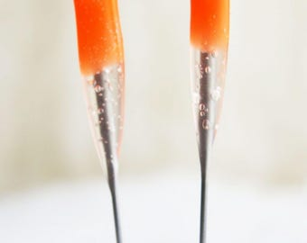 40 Star Felting Needles 2 pack BEGINNER ORANGE. Color-coded felting tools with cushioned handles.