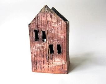 Clay House Painters Brush Holder Utensil Holder Luminary