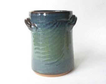 Utensil Holder, Spoon Holder, Kitchen Tool Caddy, Stoneware Utensil Holder, Handmade Spoon Holder, Kitchen Decor