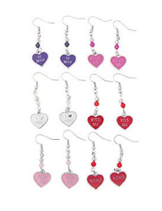 Candy Heart Charm Earrings