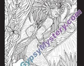 Single Coloring Page - Untamed from the Magical Beauties Collection - Download, Print & Color!