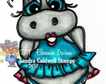 1499 Crown Hippo Digi Stamp