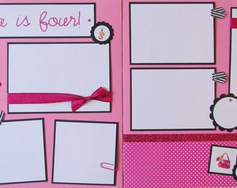 PERSONALIZED custom 12x12 Premade Scrapbook Pages -- BIRTHDAY -- you choose the theme! -