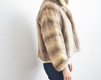 Mink fur cropped  jacket- Mink short coat-60 mink bolero jacket