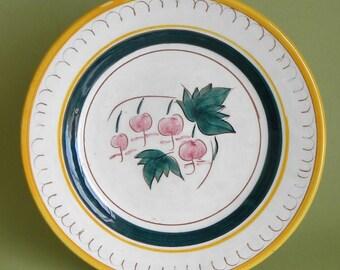 Stangl Garden Flower Salad Plate