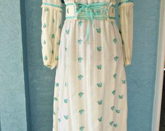 Vintage Custom Made 1970s Wedding, Prom, Dress
