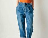 Vintage Belted Denim Pants