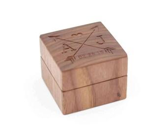 Personalized Ring Box - Custom Wood Ring Box - Ring Bearer Box - Engagement - Proposal Ring Box