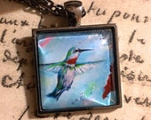 Reserved for Victoria - The Painted Hummingbird and Ella the Elephant Necklaces