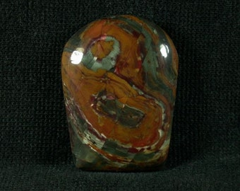 Kaleideoscope Jasper Freeform Cabochon from Prineville Oregon 25x33x6mm