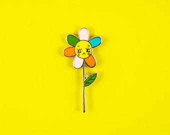SAD DAISY pin | enamel pin | lapel pin