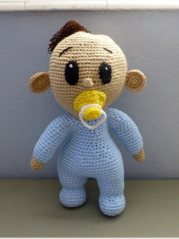 Amigurumi Doll Boy : Items similar to Boy Doll Amigurumi Crochet Gifts Nursery ...