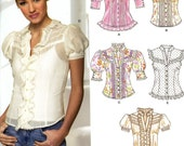 New Look 6599 Vintage Victorian Look Blouse Top Corset Lace Back Sleeveless Steampunk Size 8 10 12 14 16 18 Uncut Sewing Pattern 2006