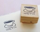 Twin Peaks rubber stamp, damn fine coffee, Twin Peaks gifts, Twin Peaks birthday, Twin Peaks fan art