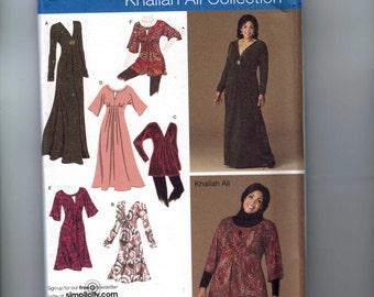 Misses Sewing Pattern Simplicity 2774 Khaliah Ali Dress Tunic Shirt Size 10 12 14 16 18 Bust 32 34 36 38 40 UNCUT