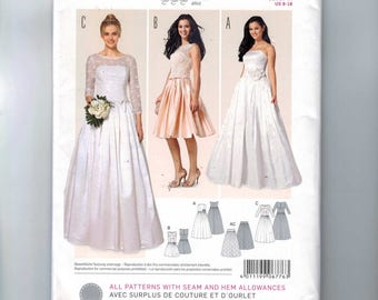 Misses Sewing Pattern Burda 676776 Wedding Gown Dress Formal Bridesmaid Strapless Sheer Bodice Overlay Size 8 10 12 14 16 18 UNCUT