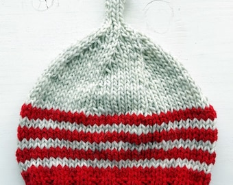 HENDREARY knitted Gnome Hat #3288 poppy, parchment