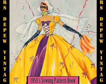 Vintage Pattern Booklet 1950's Masquerade Halloween Costumes E-Book & Pattern Sheets -INSTANT DOWNLOAD-