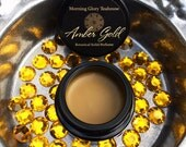 Amber Gold Botanical Solid Cream Perfume ~ soft incense, woody amber delicately blended with sweetness, spice, and a hint of gold dust