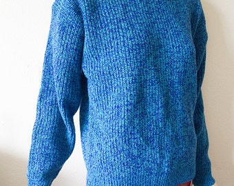 Vintage blue sweater | Etsy
