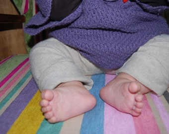 Legwarmer in pure cashmere for baby