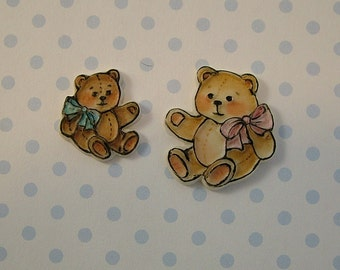 Teddy Bear Embellishments set of 2
