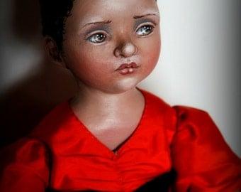 Mathinna ooak cloth doll