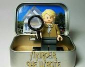 Jessica Fletcher - Custom Lego Minifigure Set - Murder, She Wrote TV show