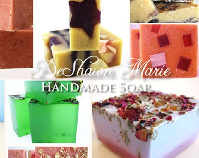 SOAP -10 assorted vegan handmade soaps, Great gifts, wedding favors.