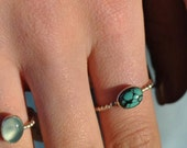 Turquoise Ring, Oval Ring, Bumpy Ring, Stacking Ring, Healing Stone, Southwestern Jewelry, Protection Ring, Stacking Jewelry, Stacking Ring