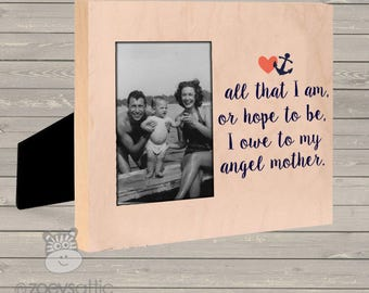 Custom Photo Frame - Mothers Day angel mother photo frame- great gift for mom or grandma FATIA