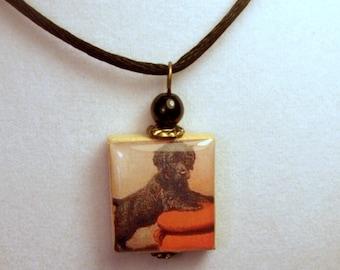 IRISH WATER SPANIEL Pendant / Dog Jewelry / Scrabble / Charm / Handmade