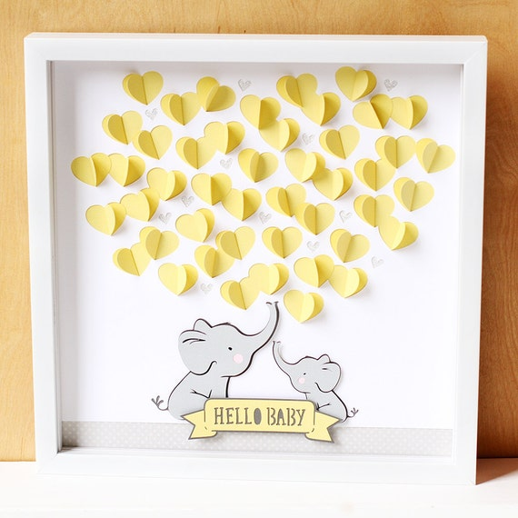 elephant baby shower guestbook gender neutral baby shower