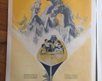 Original 1929 Johnson Outboard Motors Print Advertisement