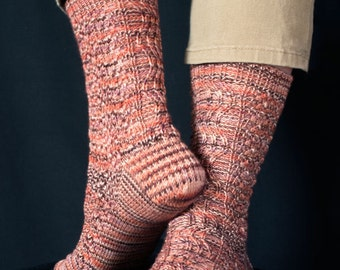 Colorado River Socks Knitting Pattern - PDF