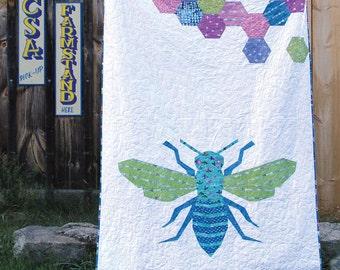 Queen Bee Quilt PDF Paper Piecing Pattern