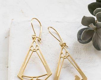 On Sale Vitrage Earrings, signature earings, art inspired jewelry, geometric jewelry