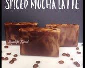 Spiced Mocha Latte Artisan Vegan Soap, Handmade Soap, Bar Soap, Handmade From Scratch, Vegan, Vegan Soap, Vegan Bar Soap, With Coconut Milk