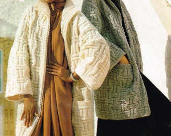 Downloadable Vintage Knitting Pattern - Women's Coat or Jacket - PDF Pattern - retro 70s