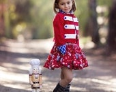 Nutcracker Set, Girls Jacket and Skirt Set-  Girls size 2t-7yrs Girls christmas dress, skirt, jacket set