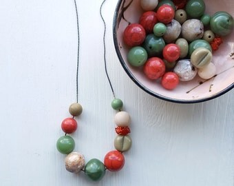 sage advice - necklace - vintage lucite