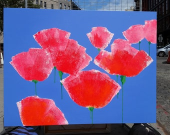 Poppies, contemporary flowers