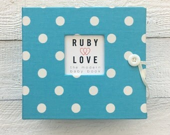 Bright Blue Polka Dot | BABY BOOK