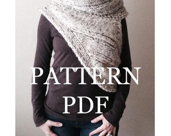 Katniss Everdeen Cowl, PATTERN PDF - Knitting Pattern for DIY Hunger Games Panem Katniss Inspired Cowl - Two Looks - Easy Knitting Pattern